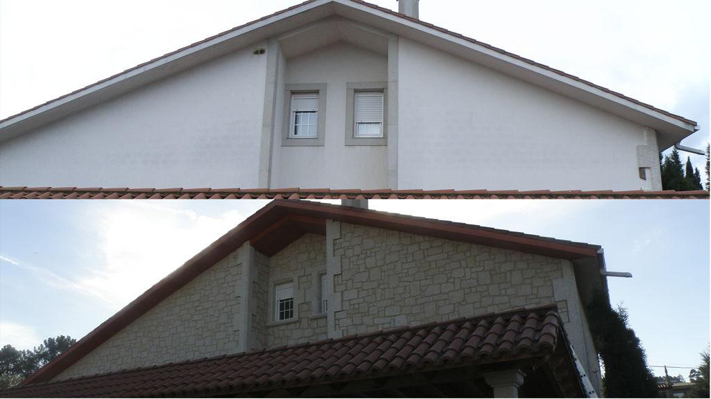 revestimiento total de paredes exteriores en piedra de 3cms - Revestimiento Exterior